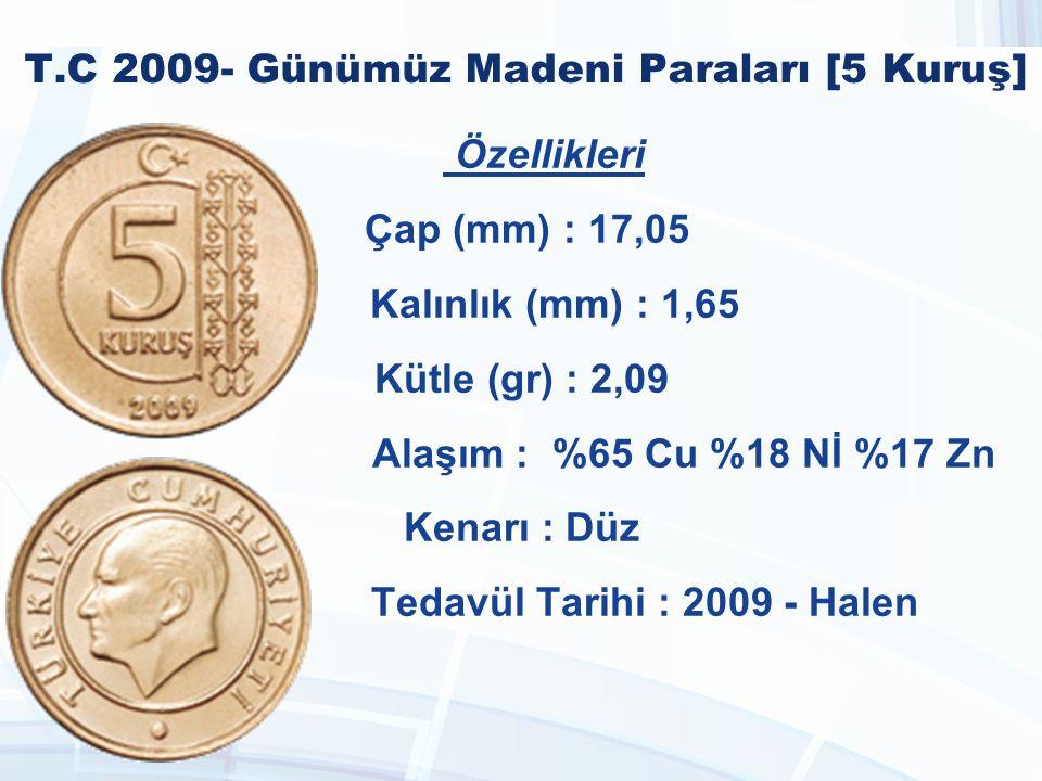 T.C 2009- Günümüz Madeni Paraları [5 Kuruş]